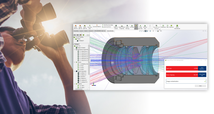 Easily view optical performance