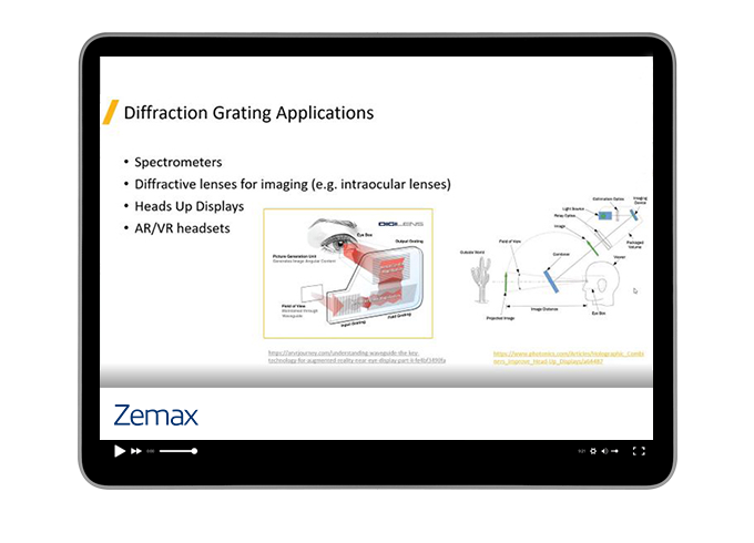 Design an Optimal Diffractive Grating with Lumerical FDTD and Zemax OpticStudio