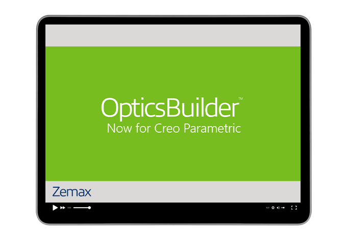 OpticsBuilder for Creo Parametric!