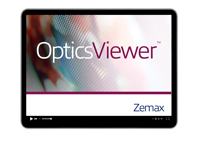 Getting started with OpticsViewer: Product tour